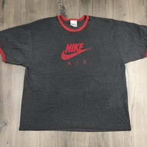 Vintage Nike Air Ringer T Shirt Spell Out Mens XL